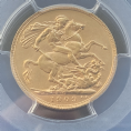 1909 Gold Sovereign  Canada  Rare PCGS AU58